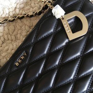 3920945c4 DKNY Bags | Lara Black Quilted Napa Leather Crossbody | Poshmark
